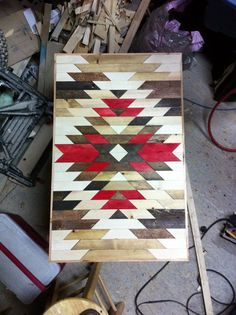 This is wood but the design would make a great quilt. Wooden Wall Art, Wood Art, Quilting Projects, Quilting Designs, Quilt Design, Southwestern Quilts, Wood Crafts, Diy Crafts, Indian Quilt