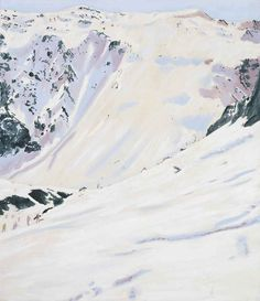 View Tour de Charvet by Peter Doig on artnet. Browse upcoming and past auction lots by Peter Doig. Peter Doig, City Landscape, Mountain Landscape, Winter Landscape, Chelsea School Of Art, Mountain Drawing, Port Of Spain, Abstract City, Painting Snow