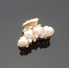 Smile Fashion Hairwear Heart Shape Pearls Small Hairpin Hair Claws Fringe Clip -- Check out this great product.