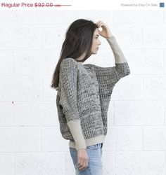 Labor Day Sale Multi color sweater Ivory Black von naftul auf Etsy