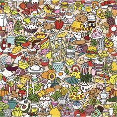 Patrón sin costuras de alimentos royalty-free stock vector art