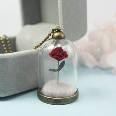 Little Prince Rose/le petit prince/The Little Prince's rose necklace/ Rose terrarium necklace/ Valentine's Day Gift – Jewelda – Online Jewellery Store Thoughtful Christmas Gifts, Valentine Day Gifts, Rose Necklace, Pendant Necklace, Terrarium Necklace, Disney Bound Outfits, Gifts Under 10, The Little Prince, Il Piccolo Principe