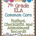 The objective of this 64 page download is to give you a method of assessing the achievement of each student using the 7th Grade Common Core ELA standards. Includes checklists, records, posters, and planning pack!