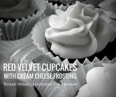 The classic Red Velvet Cupcake gets a sophisticated update with decadent cream cheese frosting. Rich, moist, and full of flavour, these cupcakes will quickly become a recipe book staple – and, personal favourite! Cupcakes With Cream Cheese Frosting, Red Velvet Cupcakes, Latest Recipe, Baking Tips, Sugar, Book, Classic, Desserts, Recipes