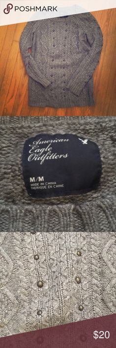 American Eagle Sweater Classic style with a fun studded detail. Stay warm and bundle up with a bundle to save! American Eagle Outfitters Sweaters Crew & Scoop Necks