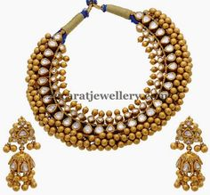 Jewellery Designs: Tussi Necklace by Shankarlal Jewellers