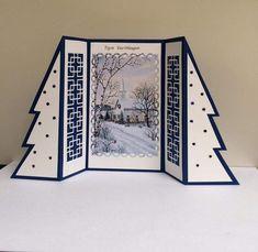 Kerst handgemaakte boom flap kaart #boom #flap #HANDGEMAAKTE #kaart #Kerst