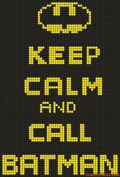 Keep calm and call Batman perler bead pattern