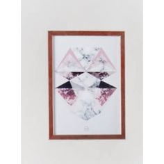 Symetric Triangles plakat med ramme A4 artwork