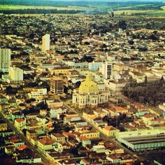 Aerial view from the city of Sao Carlos (early 70's) - SP (Brazil)