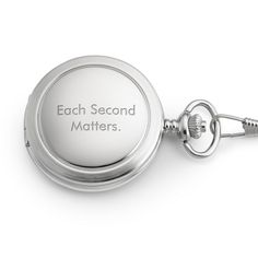 White Satin Pocket Watch at Things Remembered. wedding gift for the groom with the anniversary engraved on it.