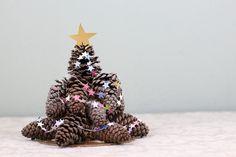 Mini Pine Cone Christmas Tree