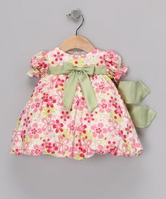 Take a look at this Pink & Green Floral Dress - Infant by Sweá Pea & Lilli on #zulily today!