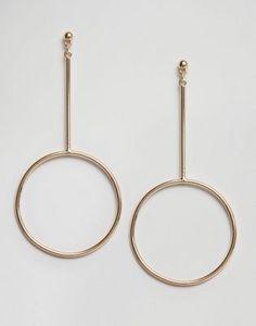 ASOS Open Circle Drop Earrings for christmas