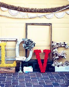 """Love"" these LOVE letters.  too cute!"