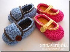 FREE PATTERN! AnnaVirginia Fashion - Baby Booties (Boy or Girl version)