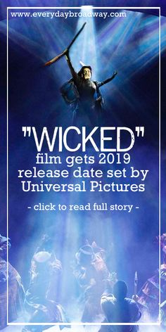 WICKED The Musical finally announces the film adaptation of the hit ‪#‎Broadway‬ musical for December 20, 2019. Will Idina Menzel and Kristin Chenoweth reunite to play the witches once again? ‪#‎Wicked‬ ‪#‎Film‬