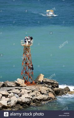 Observation tower, harbour, Kyrenia, Cyprus, tourist, Stock Photo