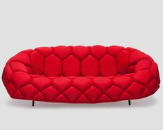 Contemporary sofa / fabric / by Ronan & Erwan Bouroullec / 2-seater QUILT Established and sons
