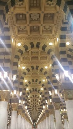 Madinah#masjid-e-nabawi#inside#architecture at its best