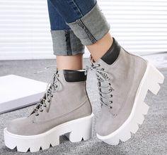 booties senhoras sapatos de plataforma bombas de cunhas mulher mulheres botas de motociclista saltos altos outono inverno martin tornozelo botas GX140663 em Botas - Feminino de Sapatos no AliExpress.com | Alibaba Group