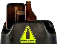 Growler on Board.  Secure up to three growlers for transport, and use it as a drying rack to clean your growlers when they are empty.