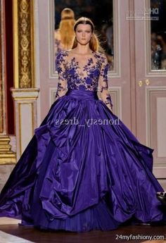 648404860e0fef You can share these purple ball gowns with sleeves on Facebook