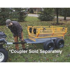 This handy Bannon Utility Trailer features a large x steel bed to haul loads up to lbs. Atv Dump Trailer, Quad Trailer, Atv Trailers, Utility Trailer, Woodworking Terms, Teds Woodworking, Loading Ramps, Online Shipping, Decking Material