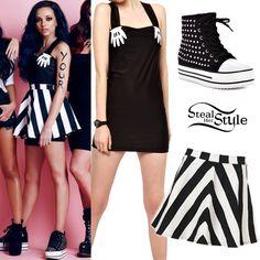 Jade Thirlwall: Hands Dress, Stripe Skirt