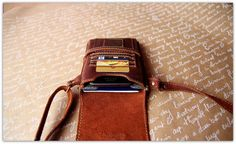 iPhone 6 Crossbody Leather Wallet / iPhone by OplichLeatherGoods