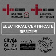 First Action provide electrical certificates & testing. safety inspection and reports. electrical certificate We are fully licensed by the British Standard for the United Kingdom and are NICEIC registered electricians. Our engineers are fully qualified to Part P 17th edition standards and meet all legal requirements for carrying out electrical works safely and effectively. More at: http://first-action.com/electrical-certificates/ #firstaction #electricalcertificate #electricalservice