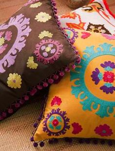 I like this Bohemian Inspired Pillows...pretty