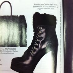 Yes please! Leather and pony hair boots!