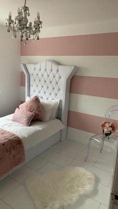 Bedroom Wall Designs, Room Design Bedroom, Room Ideas Bedroom, Small Room Bedroom, Bedroom Styles, Room Decor Bedroom Rose Gold, White Room Decor, Bedroom Decor For Couples, Luxury Bedroom Furniture