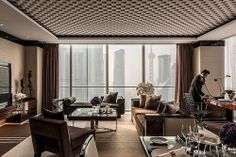 Four Seasons Hotel Shanghai Guest in Two Bedroom Suite Living Room: Two Bedroom Suites, One Bedroom, Four Seasons Hotel, Hotel Room Design, Hotel Interiors, Hotel Suites, Decoration, Living Spaces, Living Rooms