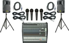 """Behringer PMP6000 / B215XL Powered Mixer Mains & Mics Package by Behringer. $999.99. The Behringer PMP6000 / B215XL Powered Mixer PA package is an inexpensive collection of BEHRINGER technology to monitor, capture, mix, and project your live performance, and includes the accessories you need to complete the setup.The package includes:1 BEHRINGER EUROPOWER PMP6000 Powered Mixer2 B215XL 15"""" 1000W Passive Titanium PA Speakers4 Nady StarPower 1 Microphones4 XLR Microphone C..."""