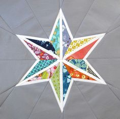 Your next quilt block pattern will be an explosion of color if you make this star quilt pattern with an easy paper piecing pattern. Use your scraps to create one-of-a-kind quilt blocks that will never look the same twice.