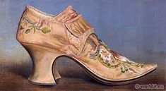 footwear in 17th century france – Căutare Google Vintage High Heels, Vintage Shoes, Pretty Shoes, Beautiful Shoes, Middle Ages Clothing, 17th Century Fashion, 16th Century, French Shoes, Victorian Shoes