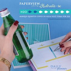 O Daily Planner vem com Adesivos Hidrate-se!  www.paperview.com.br  #meudailyplanner #paperview_papelaria #dailyplanner