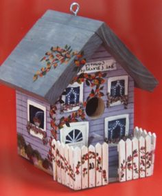 -Country B & B hand painted birdhouse