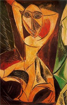 Pablo Picasso - Nude with raised arms (The Avignon dancer), 1907