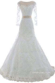 http://www.ikmdresses.com/2015-Women-Lace-Bridal-Gowns-A-line-Wedding-Dresses-with-Sleeves-p88153