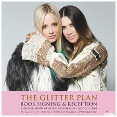 The Glitter Plan Book Signing & Reception at FIDM: A private affair with the founders of Juicy Couture. @PAM AND GELA  #juicycouture #theglitterplan #pamelaskaistlevy #gelanashtaylor #skaisttaylor #pamandgela