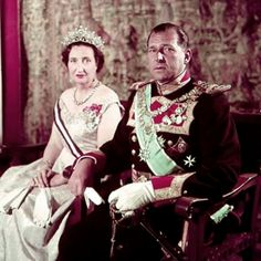 Miss Honoria Glossop:  The Count and Countess of Barcelona, Don Juan and Donna Maria de las Mercedes, parents of King Juan Carlos of Spain
