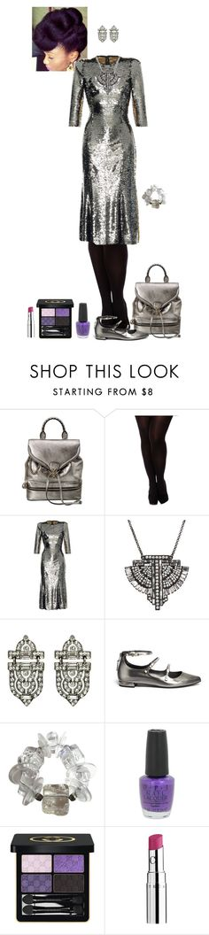 """skyscraper/Coruscant dress 1"" by shulabond on Polyvore featuring Alexander McQueen, City Chic, Dolce&Gabbana, Ben-Amun, Stuart Weitzman, OPI, Gucci and Chantecaille"