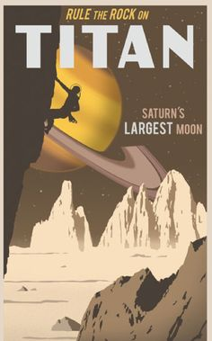 Beautiful Retro Futuristic Travel Posters