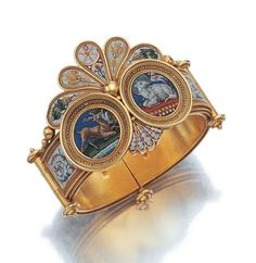 Micromosaic cuff. At Renaissance Fine Jewelry we buy, sell and collect fine antiques and jewelry. www.vermontjewel.com
