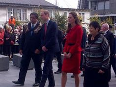 William and Kate at the city council building