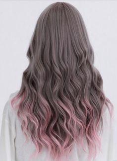Pink dipdye hair
