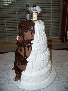 Love this half and half cake